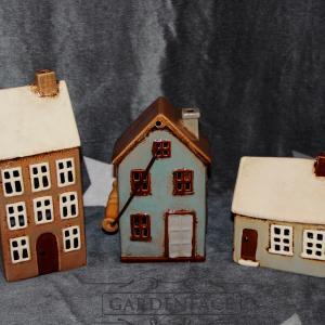 domečky, lucerny, svícen domeček