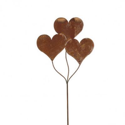 zápich trojité srdce patina