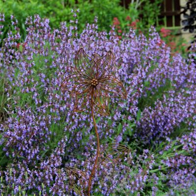 kovový zápich květina - špičaté okvětní plátky